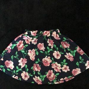 Hand sewn girls floral skirt.